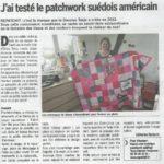 """Article """"J'ai testé le patchwork suédois américain"""""""