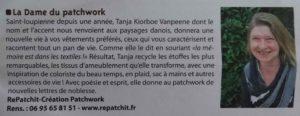 """Article de Dans Ma Ville """"LA Dame du Patchwork"""""""