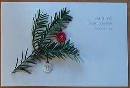 Une carte cadeau de Noël, pour un plaid personnalisé de Repatchit