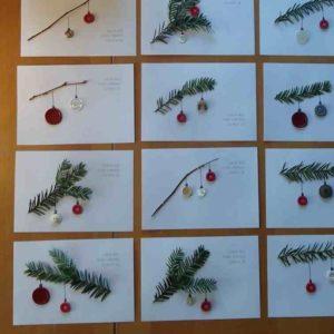 Exemples de carte cadeau pour Noël