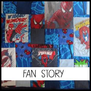 """J'imagine mon plaid en patchwork personnalisé sur le thème """"Fan Story"""""""