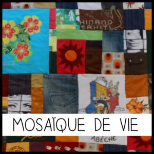 """J'imagine mon plaid en patchwork personnalisé sur le thème """"Mosaïque de Vie"""""""