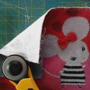 Carré pour patchwork, tricot doublé