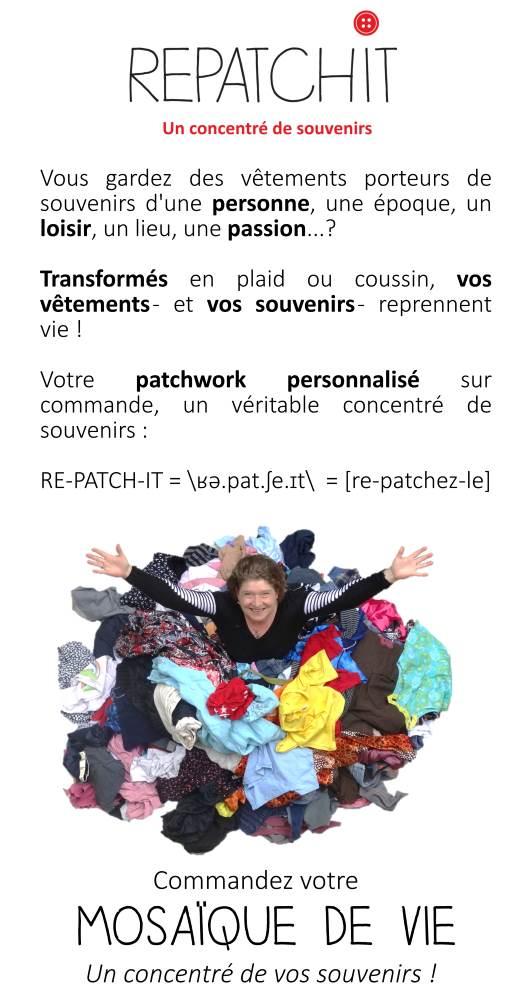 """Affiche explicatif pour le patchwork personnalisé """"Mosaïque de vie"""""""