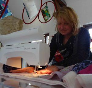 Démo de couture patchwork lors des JEMA 2013 à Vauréal