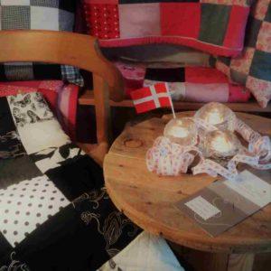"""""""Hygge"""" danois avec patchwork personnalisé et bougies"""