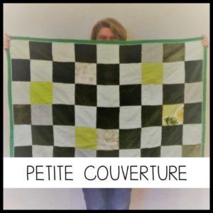 Icone : Une petite couverture personnalisée en patchwork chez Repatchit