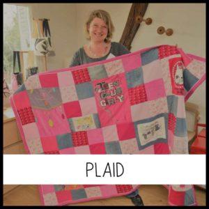Un plaid personnalisé en patchwork chez Repatchit