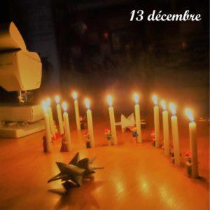 23 décembre, les lutins Lego chante la sainte Lucie