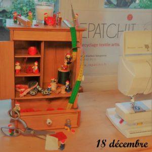 18 décembre, les lutins aident à l'atelier, comme les souris de Cendrillon