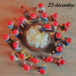 23 décembre, les lutins mangent du risengroed