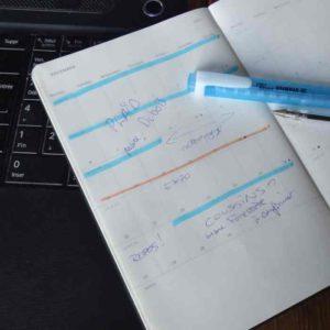 Calendrier : Minimum deux semaines de délais de prodution