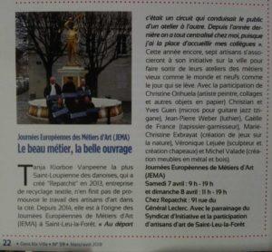Article sur JEMA 2018 à Saint Leu La forêt