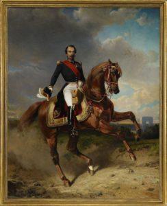 Portrait équestre de Napoléon III, par Carl Friederich Kiørboe