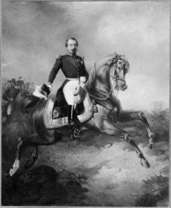 Portrait équestre de Napoléon III se trouvant au Nationalmuseum, Suède.