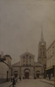 Eglise Saint-Gilles de Saint-Leu, carte postale ancienne