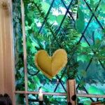 Déco de Noël : Coeur en tissus recyclés