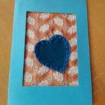 Carte brodé pour Saint Valentin