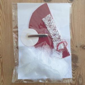 Kit pour créer un mini-bonnet de lutin sur barrette