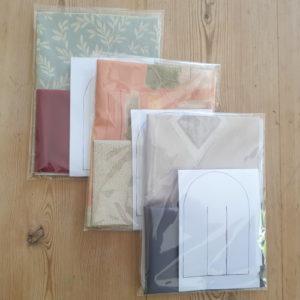 Kits de couleurs différents pour créer un cœur de Noël danois tressé