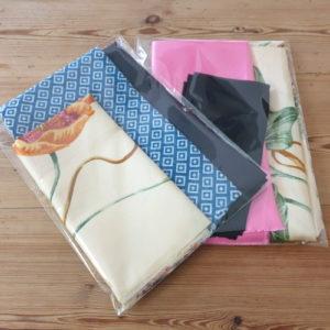 Kit de tissu pour emballage furoshiki