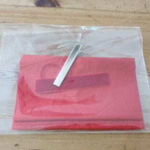 Kit pour faire sa barrette avec un nœud rouge