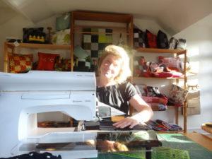 Tanja dans l'atelier Repatchit